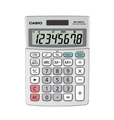Tischrechner MS-88ECO,8-stellig silber