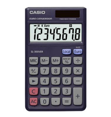 Taschenrechner SL-300VER Solar-/Batterie LCD-Display blau 1-zeilig 8-stellig