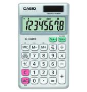 Taschenrechner SL-305ECO Solar-/Batterie LCD-Display silber 1-zeilig 8-stellig