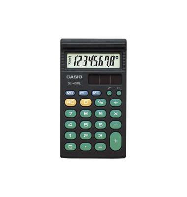 Taschenrechner SL-450S Solar LCD-Dispaly schwarz 1-zeilig 8-stellig