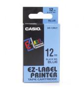 Schriftband XR-12BU1 12mm x 8m schwarz/blau laminiert stark selbstklebend