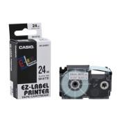 Schriftband XR-24WE1 24mm x 8m schwarz/weiß laminiert stark selbstklebend