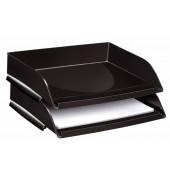 Briefablage Pro A4 / C4 quer schwarz stapelbar