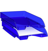 Briefablage Pro Happy A4 / C4 ultramarinblau stapelbar