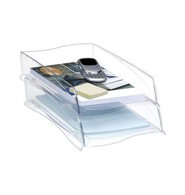 Briefablage Ellypse 1003000111 A4 / C4 glasklar Kunststoff stapelbar