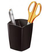 Stifteköcher Pro 2 Kammern schwarz 74x74x95mm