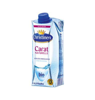 Carat Mineralwasser still 0,5l Tetrap. 24 St