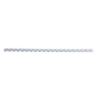 Plastikbinderücken CombBind 4028198 weiß US-Teilung 21 Ringe auf A4 125 Blatt 14mm 100 Stück