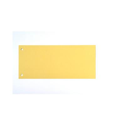Trennstreifen gelb 190g gelocht 220x105mm 100 Blatt