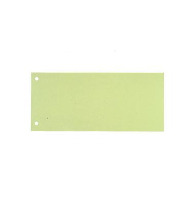Trennstreifen grün 190g gelocht 220x105mm 100 Blatt