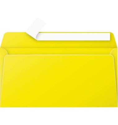 Designbriefumschläge Din Lang Pollen ohne Fenster haftklebend 120g sonnengelb 20 Stück