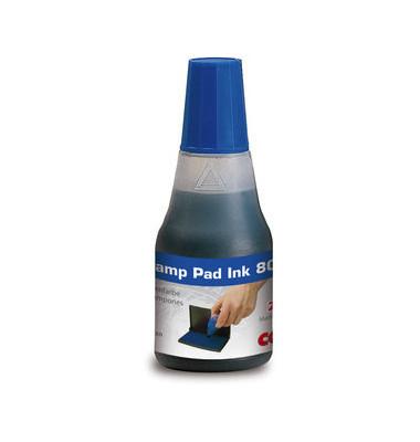 Stempelfarbe 801 ohne Öl 25ml Flasche blau