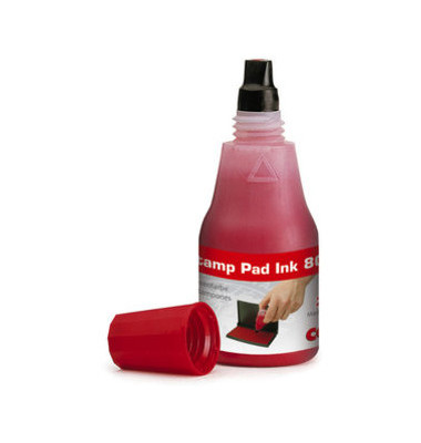 Stempelfarbe 801 ohne Öl 25ml Flasche rot