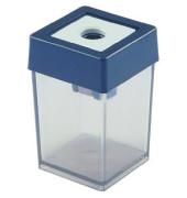 Spitzer mit Behälter viereckig transparent