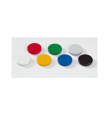 Magnete 32mm bis 800g rund farbig sortiert