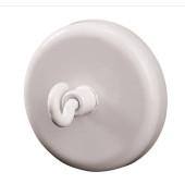 Magnete 47mm mit Haken bis 15kg rund weiß