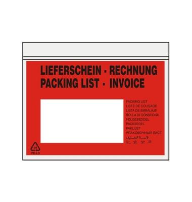 """Lieferscheintaschen C6 """"LIEFERSCHEIN - RECHNUNG"""" selbstklebend 1000 Stück 522V0005005"""