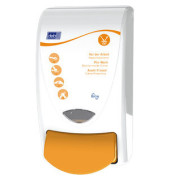 Pflegemittelspender PRO1LDSMD Protect 1L weiß/orange