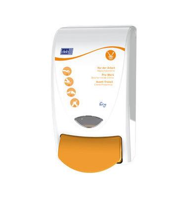 Pflegemittelspender PRO1LDSMD Protect 1L weiß/orange