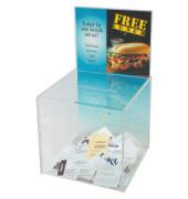 Spenden-Box mit Infoschild transp. 211x213x381