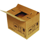 Versandkarton QUiCK-Lock duo 1-wellig 384x284x167 mm braun 1 Stück