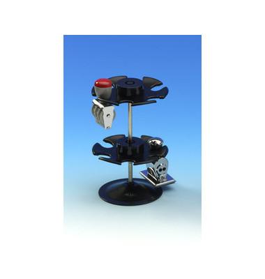 Stempelträger für 12 Stempel schwarz rund