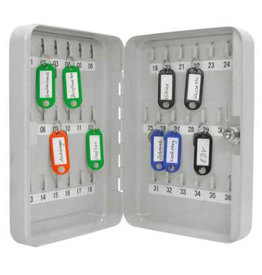 Schlüsselschrank für 36 Schlüssel lichtgrau Sicherheitsschloss