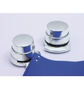 Heftgerät für Klammernlose Heftung silber bis 4 Blatt 6 x 6 x 5,5cm