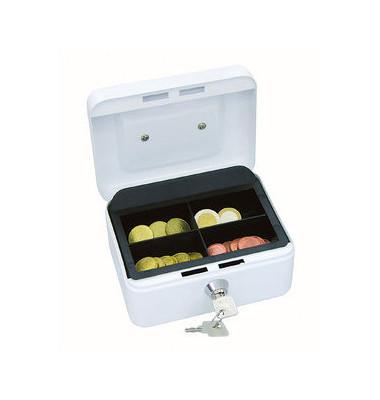 Geldkassette mit Münzeinsatz lose weiß 152 x 115 x 80mm