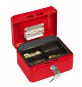 Geldkassette 145 Größe 1 rot 152x155x80mm mit Scheinhalterung im Deckel