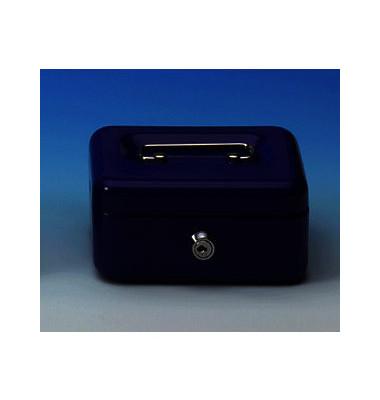 Geldkassette mit Münzeisatz lose blau 152 x 115 x 80mm
