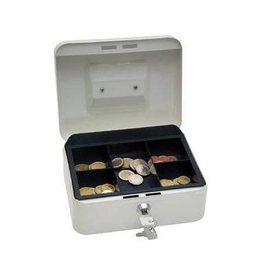 Geldkassette mit Münzeinsatz lose weiß 200 x 160 x 90mm