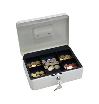 Geldkassette mit Münzeinsatz lose weiß 250 x 180 x 90mm