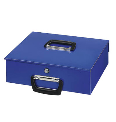 Geldkassette Universa blau 355x275x100mm Euro