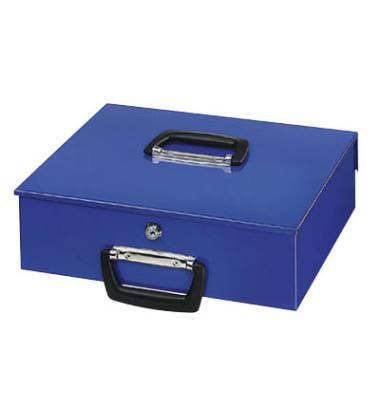 Geldkassette Universal 150 blau 355x275x100mm mit Griff vorn