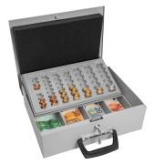Geldkassette Universal 150 lichtgrau 355x275x100mm mit Griff vorn