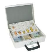 Geldkassette Europa 150 weiß 315x245x95mm Euro mit Griff vorn
