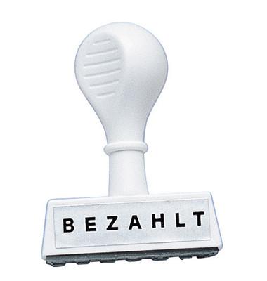 """Stempel mit Text """"BEZAHLT"""""""