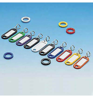 Schlüsselanhänger+Kennringe sort. i.Polybeutel 10+5 St