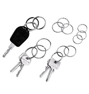 Schlüsselringe Metall gewellt je 3x Durchmesser 25mm 30mm 35mm 15 Stück