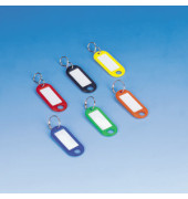 Schlüsselanhänger mit Ring farbig sortiert 100 Stück