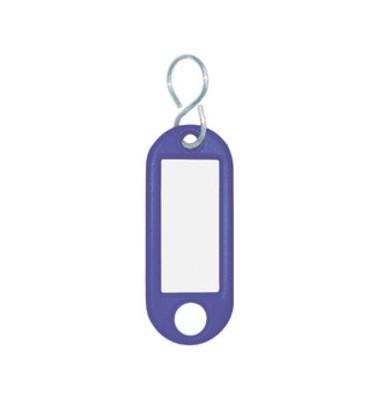Schlüsselanhänger mit Etikett S-Hacken blau
