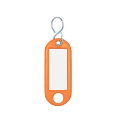 Schlüsselanhänger mit Etikett S-Hacken orange