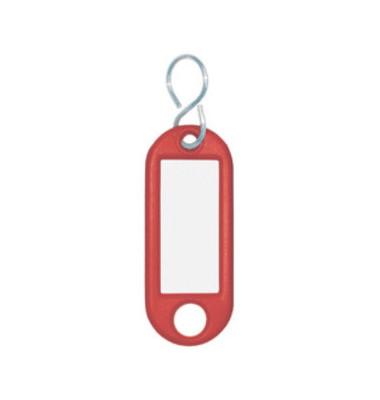 Schlüsselanhänger mit Etikett S-Hacken rot