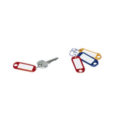 Schlüsselanhänger mit Etikett S-Haken 8 Farben 200 Stück
