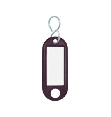 Schlüsselanhänger mit Etikett S-Hacken schwarz