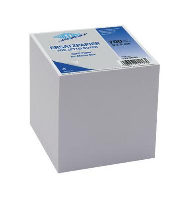 Notizzettel 90 x 90mm weiß 700 Blatt