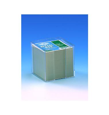 Zettelbox 95 x 95 x 100mm transparent Inhalt 90 x 90mm weiß 700 Blatt