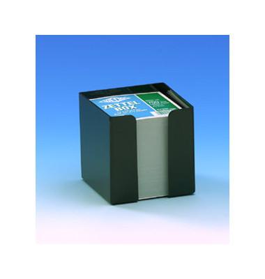 Zettelbox 95 x 95 x 100mm schwarz Inhalt 90 x 90mm weiß 700 Blatt