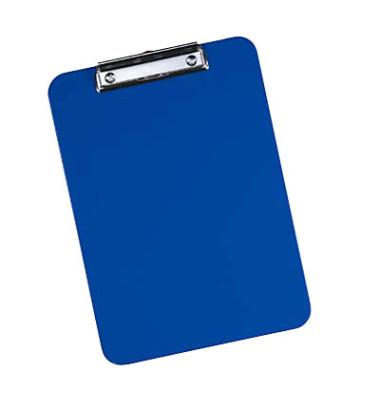 Klemmbrett A4 blau 317x227mm ABS-Kunststoff